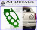 California Brass Knuckles Decal Sticker Green Vinyl Logo 120x97