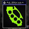California Brass Knuckles Decal Sticker Lime Green Vinyl 120x120