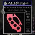 California Brass Knuckles Decal Sticker Pink Emblem 120x120