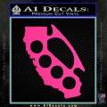 California Brass Knuckles Decal Sticker Pink Hot Vinyl 120x120