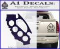California Brass Knuckles Decal Sticker PurpleEmblem Logo 120x97
