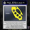 California Brass Knuckles Decal Sticker Yellow Laptop 120x120