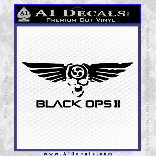 Call Of Duty Black Ops Skull Wings Decal Sticker A Decals - Black vinyl decal stickers