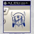 Cattle Skull Feather Cow Decal Sticker Blue Vinyl 120x120