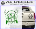 Cattle Skull Feather Cow Decal Sticker Green Vinyl Logo 120x97
