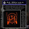 Cattle Skull Feather Cow Decal Sticker Orange Emblem 120x120