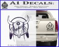 Cattle Skull Feather Cow Decal Sticker PurpleEmblem Logo 120x97