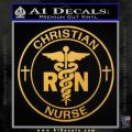 Christian Nurse Decal Sticker Gold Vinyl 120x120