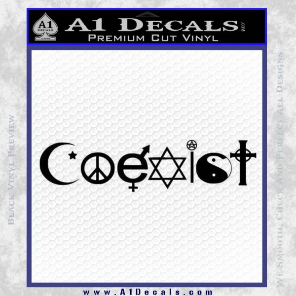 Coexist Decal Sticker D1 187 A1 Decals