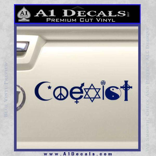 Coexist Decal Sticker D1 Blue Vinyl