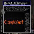 Coexist Decal Sticker D1 Orange Emblem 120x120