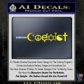 Coexist Decal Sticker D1 Yellow Laptop 120x120