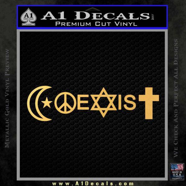 Coexist Decal Sticker New Gold Vinyl