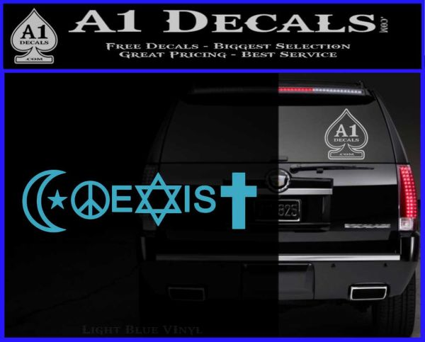 Coexist Decal Sticker New 187 A1 Decals