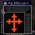Cross Crucifix Decal Sticker 2 Pack Orange Emblem 120x120