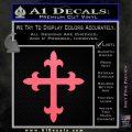 Cross Crucifix Decal Sticker 2 Pack Pink Emblem 120x120