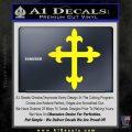 Cross Crucifix Decal Sticker 2 Pack Yellow Laptop 120x120