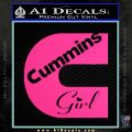 Cummins Girl Decal Sticker Pink Hot Vinyl 120x120