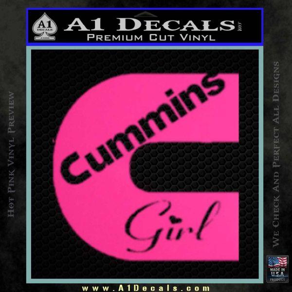 Cummins girl decal sticker pink hot vinyl