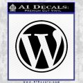 Customizable Wordpress Logo D1 Decal Sticker Black Vinyl 120x120