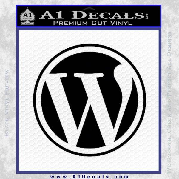 Customizable Wordpress Logo D1 Decal Sticker Black Vinyl
