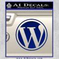 Customizable Wordpress Logo D1 Decal Sticker Blue Vinyl 120x120