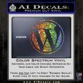 Customizable Wordpress Logo D1 Decal Sticker Glitter Sparkle 120x120