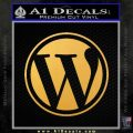 Customizable Wordpress Logo D1 Decal Sticker Gold Vinyl 120x120