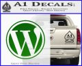 Customizable Wordpress Logo D1 Decal Sticker Green Vinyl Logo 120x97