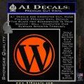 Customizable Wordpress Logo D1 Decal Sticker Orange Emblem 120x120