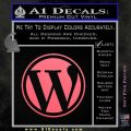 Customizable Wordpress Logo D1 Decal Sticker Pink Emblem 120x120