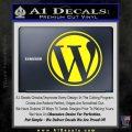 Customizable Wordpress Logo D1 Decal Sticker Yellow Laptop 120x120
