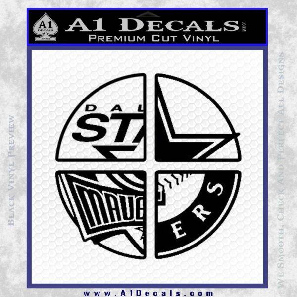 Dallas Texas Pro Sports D1 Decal Sticker Black Vinyl