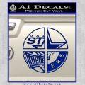 Dallas Texas Pro Sports D1 Decal Sticker Blue Vinyl 120x120