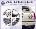 Dallas Texas Pro Sports D1 Decal Sticker Carbon FIber Black Vinyl 120x97