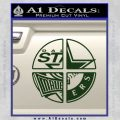 Dallas Texas Pro Sports D1 Decal Sticker Dark Green Vinyl 120x120
