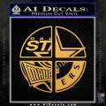 Dallas Texas Pro Sports D1 Decal Sticker Gold Vinyl 120x120