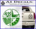 Dallas Texas Pro Sports D1 Decal Sticker Green Vinyl Logo 120x97