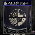 Dallas Texas Pro Sports D1 Decal Sticker Metallic Silver Emblem 120x120