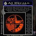 Dallas Texas Pro Sports D1 Decal Sticker Orange Emblem 120x120