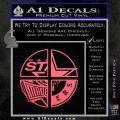 Dallas Texas Pro Sports D1 Decal Sticker Pink Emblem 120x120