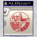 Dallas Texas Pro Sports D1 Decal Sticker Red 120x120