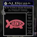 Darwin Jesus Fish D2 Decal Sticker Pink Emblem 120x120