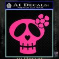 Day Of Dead Skull Simple Decal Sticker Pink Hot Vinyl 120x120