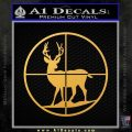 Deer in Scope Crosshairs Decal Sticker Gold Vinyl 120x120