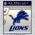 Detroit Lions Stacked Decal Sticker Blue Vinyl 120x120