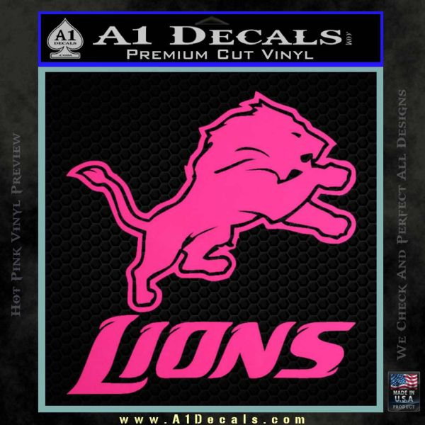 Detroit Lions Stacked Decal Sticker 187 A1 Decals