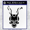 Donnie Darko Frank Decal Sticker Black Vinyl 120x120