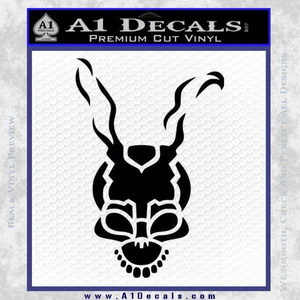Donnie Darko Frank Decal Sticker Black Vinyl