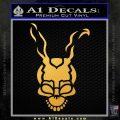 Donnie Darko Frank Decal Sticker Gold Vinyl 120x120